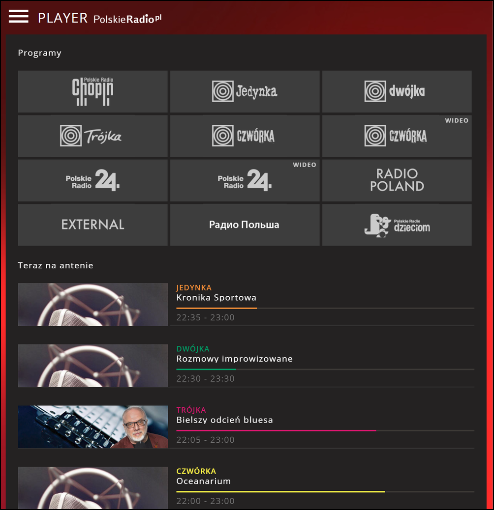 Polskie Radio screenshot