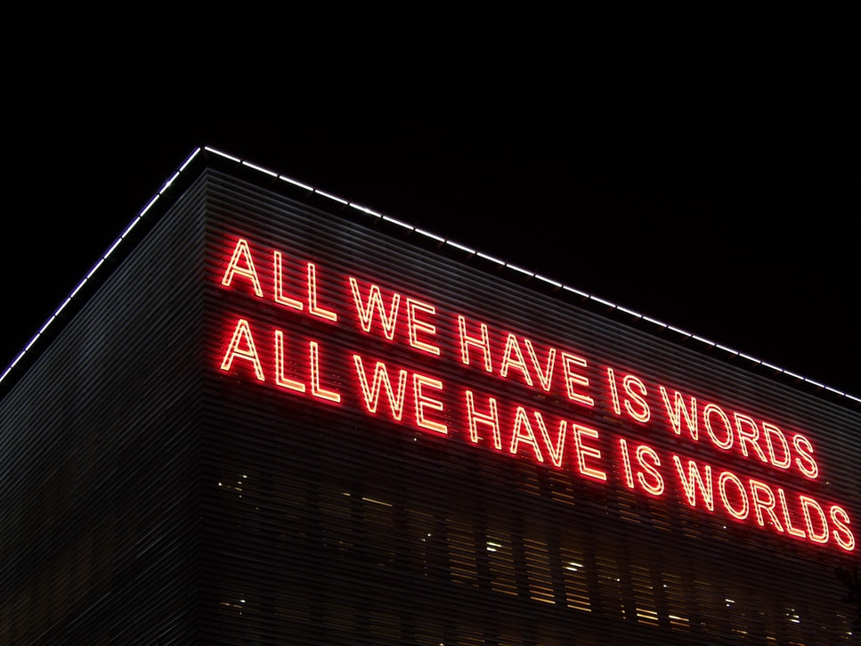 """""""Tener"""" conjugation in Spanish – """"all we have is words"""" neon"""