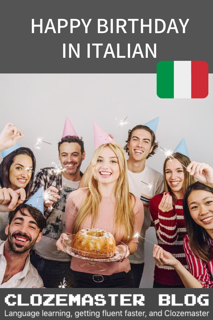 Italian 101 How To Say Happy Birthday